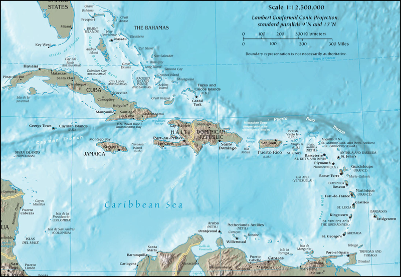 mappa-dei- Caraibi-Caribbean