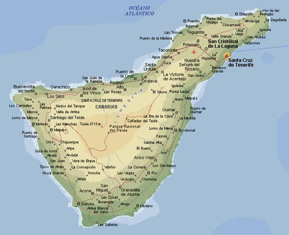 Isola Tenerife Cartina.Tenerife Vacanze Mappa Foto E Meteo