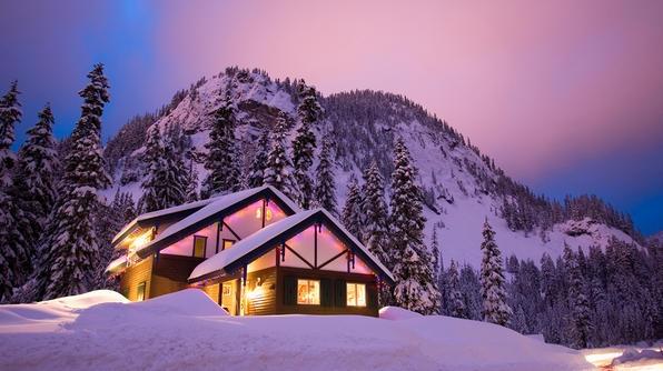 Natale e capodanno in chalet for Piccoli disegni di baite di montagna