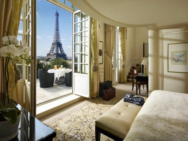 Hotel Parigi Camera Vista Torre Eiffel